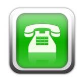 Botón verde del teléfono stock de ilustración