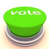 Botón verde del voto libre illustration