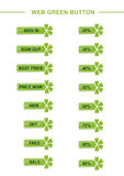Botón verde del Web Fotografía de archivo