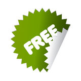 Botón verde libre de la etiqueta engomada Fotografía de archivo