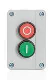 Botón verde y rojo Fotografía de archivo libre de regalías