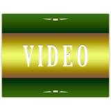 Botón video Imágenes de archivo libres de regalías