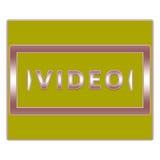 Botón video Imagenes de archivo