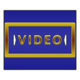 Botón video Imagen de archivo