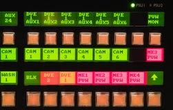 Botón video del mezclador Foto de archivo libre de regalías