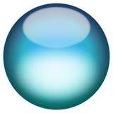 Botón vidrioso 3D Imágenes de archivo libres de regalías