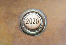 Botón viejo - 2020 Fotos de archivo
