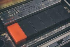 Botón viejo del Rec Foto de archivo