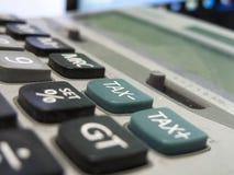 Botón viejo polvoriento del impuesto de la calculadora Imagen de archivo