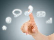 Botón virtual del teléfono Imagen de archivo libre de regalías