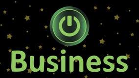 Botón y estrellas del negocio libre illustration
