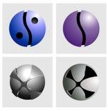 Botón y logotipo del alfabeto fotos de archivo