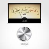 Botón y metro del volumen Fotografía de archivo