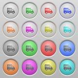 Botões afundados do transporte plástico livre Fotografia de Stock Royalty Free