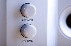 Botões audio Fotos de Stock