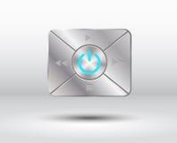 Botões audio com simbol 2 do poder Fotografia de Stock