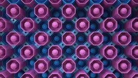 Botões azuis roxos do papel de parede Foto de Stock Royalty Free