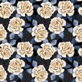 Botões bonitos Teste padrão 5 das rosas da aquarela Fotos de Stock