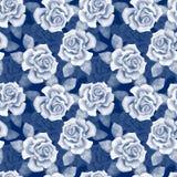 Botões bonitos Teste padrão 10 das rosas da aquarela Fotografia de Stock Royalty Free