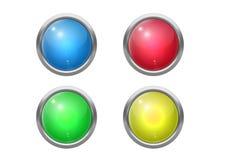 Botões brilhantes Fotografia de Stock Royalty Free