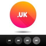 Botões BRITÂNICOS do sinal do domínio 5 símbolos níveis mais alto do domínio do Internet do vetor dos ícones Fotografia de Stock