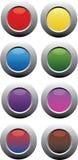 Botões circulares metálicos da cor Foto de Stock Royalty Free