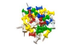Botões coloridos artigos de papelaria Fotografia de Stock