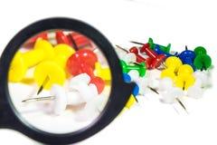 Botões coloridos artigos de papelaria Fotografia de Stock Royalty Free