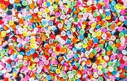 Botões coloridos, Clasper colorido Fotografia de Stock