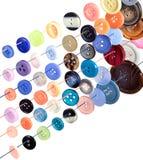Botões coloridos da costura Imagens de Stock Royalty Free