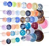 Botões coloridos da costura Fotografia de Stock Royalty Free