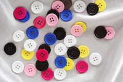 Botões coloridos da costura Foto de Stock Royalty Free