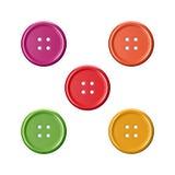 Botões coloridos da roupa da costura Imagens de Stock Royalty Free