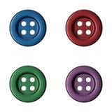 Botões coloridos da roupa da costura Imagens de Stock