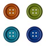 Botões coloridos da roupa da costura Imagem de Stock Royalty Free