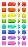 Botões coloridos do vetor dos desenhos animados engraçados ilustração stock