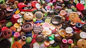 Botões coloridos do vintage para a roupa fotografia de stock