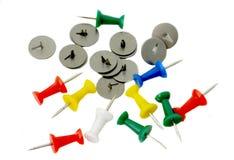 Botões coloridos escritório do plástico e do metal Imagem de Stock Royalty Free