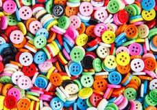 Botões coloridos, fim colorido de Clasper acima Fotos de Stock Royalty Free