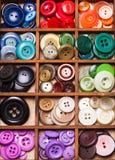 Botões coloridos macro Foto de Stock Royalty Free