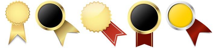botões com molde da bandeira Imagem de Stock