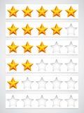 Botões da avaliação Imagens de Stock Royalty Free