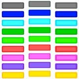 Botões da cor ilustração stock