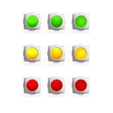 Botões da cor Ilustração Royalty Free