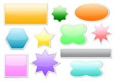 Botões da forma diferente Fotografia de Stock Royalty Free