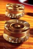 Botões da guitarra elétrica Fotos de Stock Royalty Free