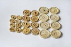 Botões da madeira da roupa Fotografia de Stock
