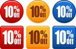 10 botões da oferta Imagens de Stock