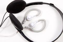 Botões da orelha com auscultadores Fotografia de Stock Royalty Free