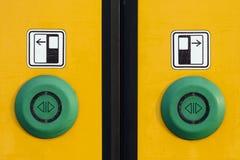 Botões da porta do trem Fotos de Stock Royalty Free